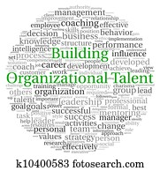 Building Organizational Talent concept in word tag cloud