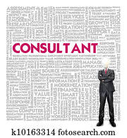 Business word cloud for business concept, Consultant