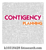 Business word cloud for business concept, Business continuity