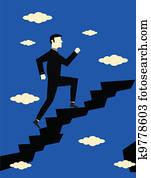 Businessman Career Growth