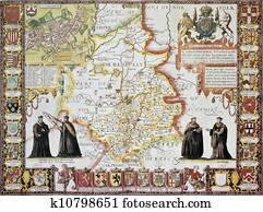 Cambridgeshire old map