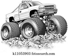 Cartoon 4x4 Truck