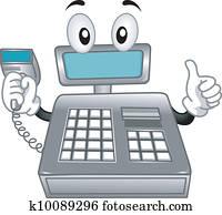 Cash Register Mascot