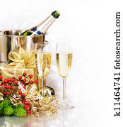 Champagne. New Year's Eve. Celebration