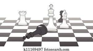 Chess king victory game strategy win