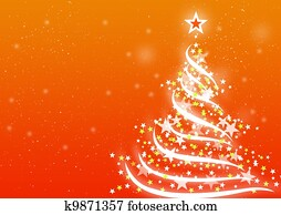 Christmas background Orange