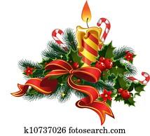 Christmas candle light 1