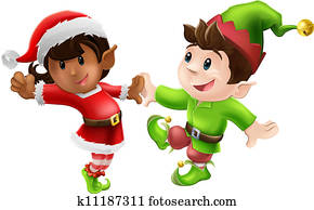 Christmas Elves Dancing