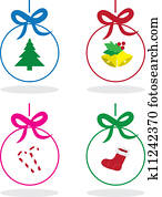 Christmas Outlined Ornaments