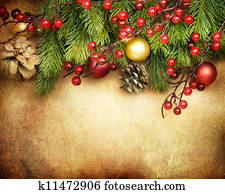 Christmas Retro Card border design