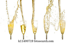 Collection of champagne wine glasse