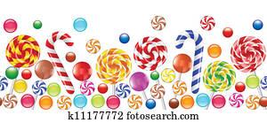 colorful candies, fruit bonbon, lollipop
