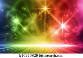 Colorful light effects background