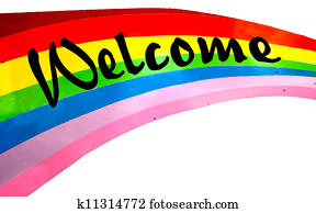 Colorful of welcome