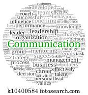 Communication concept in word tag cloud