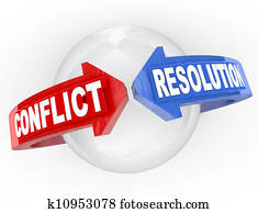 Conflict Resolution Resolve Dispute Arrows Meet Agreement