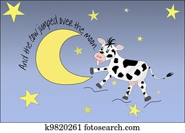 Cow Jumping Over The Moon