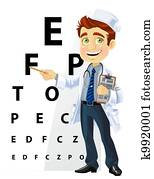 Cute men doctor - ophthalmologist