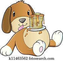 Cute Puppy Dog Pancake Breakfast