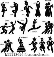 Dancing Dancer Pictogram