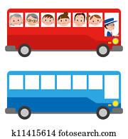 dass, abbildung, von, a, bus