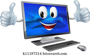 Desktop computer mascot