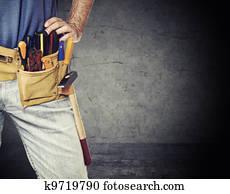 detail of handyman