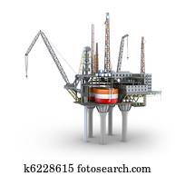 Drilling offshore Platform isolated