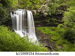 Dry Falls Highlands NC Waterfalls Nature Landscape Western North Carolina Blue Ridge Mountains natural outdoors scenery