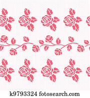 Elegant lace vector pattern