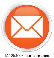 Email orange button