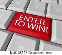 Enter to Win Contest Drawing Raffle Lottery Computer Key