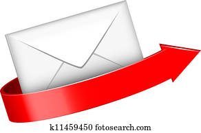 envelope and red arrow
