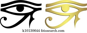 Eye of Horus in black and gold