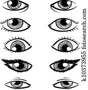 Eyes vector sketch