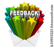 Feedback Review Rating Stars Envelope Letter