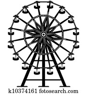 Ferris wheel vector silhouette