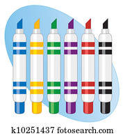 filzspitze, markierung, kugelschreiber