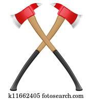 firefighter ax illustration