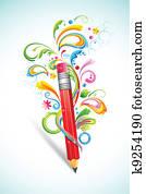 Floral Pencil