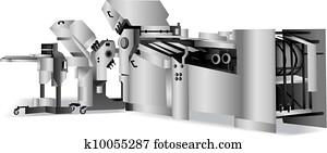 folding-machine for bindery