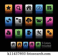 ftp, &, Hosting, heiligenbilder, //, farbe, kasten