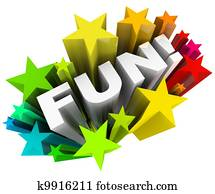 Fun Word Stars Starburst Entertainment Amusement