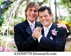 Gay Couple - Wedding Portrait