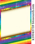 Gay frame with a texture