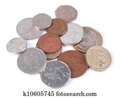 Bilder Britisch Sterling Pfund Währung Banknoten Und