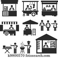 geschaefts, stall, kaufmannsladen, stand, gro?markt