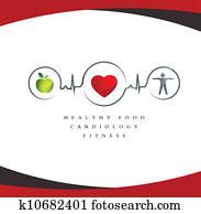 gesundes herz, symbol