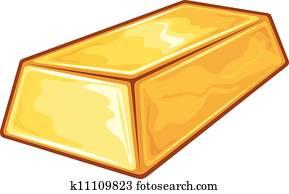 Clip Art Of A Gold Bar K13749776
