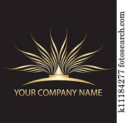 Gold lotus logo for you company
